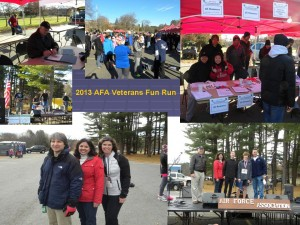 Collage of Pictures for 2013 AFA Veterans Fun Run